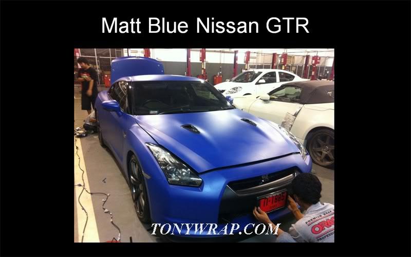 6c91546eb5947 TONY WRAP CAR ฟิล์มเปลี่ยนสีรถ Wrapรถ Car Wrap ราคาพิเศษ   Matt Blue ...