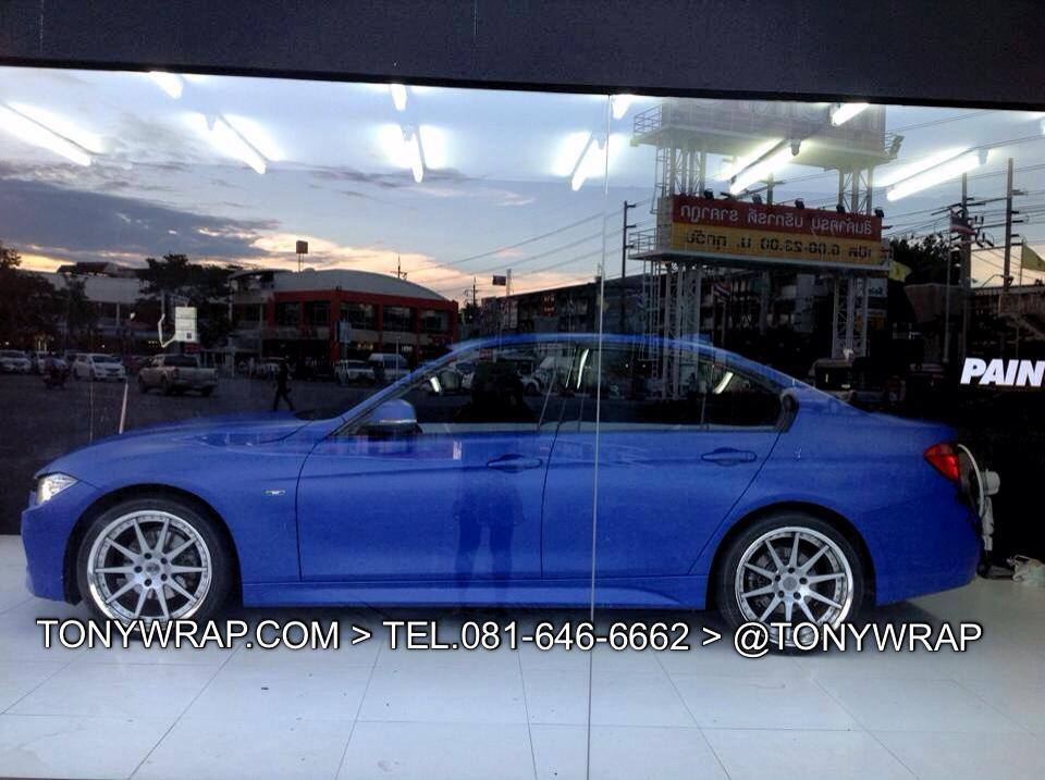 0e06f299f95a2 TONY WRAP CAR ฟิล์มเปลี่ยนสีรถ Wrapรถ Car Wrap ราคาพิเศษ   Matt Blue ...