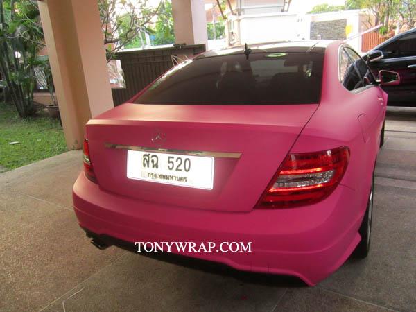 b3b30c55770 TONY WRAP CAR ฟิล์มเปลี่ยนสีรถ Wrapรถ Car Wrap ราคาพิเศษ | Matt Pink ...