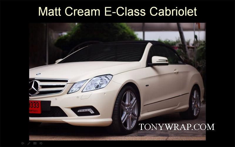 newest ac563 691ce Matt Cream Tony Wrap Car Supercar Society